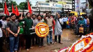 Le Bangladesh marque les quatre ans du drame du Rana Plaza, l'un des pires accidents industriels de l'histoire #AFP