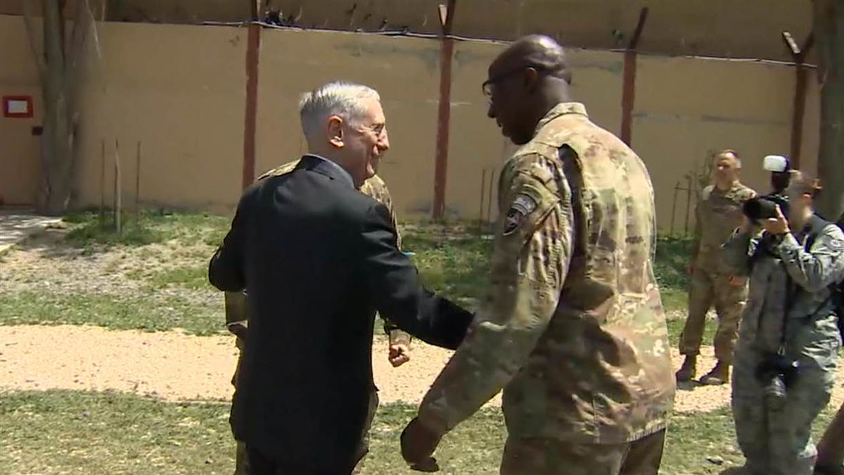 Sec. Mattis makes surprise visit to Afghanistan for in-person update on the 15-year war. https://t.co/xIg0b04Jx2