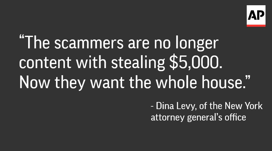 ICYMI: The spreading scam that could claim your home. https://t.co/EDMAMsTA4R