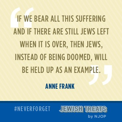 An important quote from Anne Frank on this #YomHashoah, #HolocaustRemembranceDay. #NeverForget