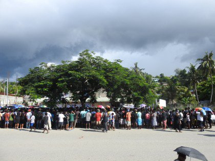 Huge crowd marches through Honiara to condemn murders