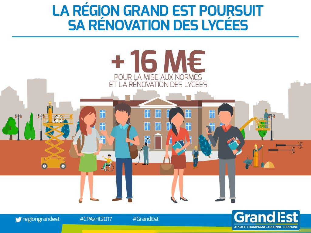 test Twitter Media - RT @regiongrandest: Vaste programme de rénovation des lycées du #GrandEst : https://t.co/jvZ4xSrADA https://t.co/21H8DXYjz1