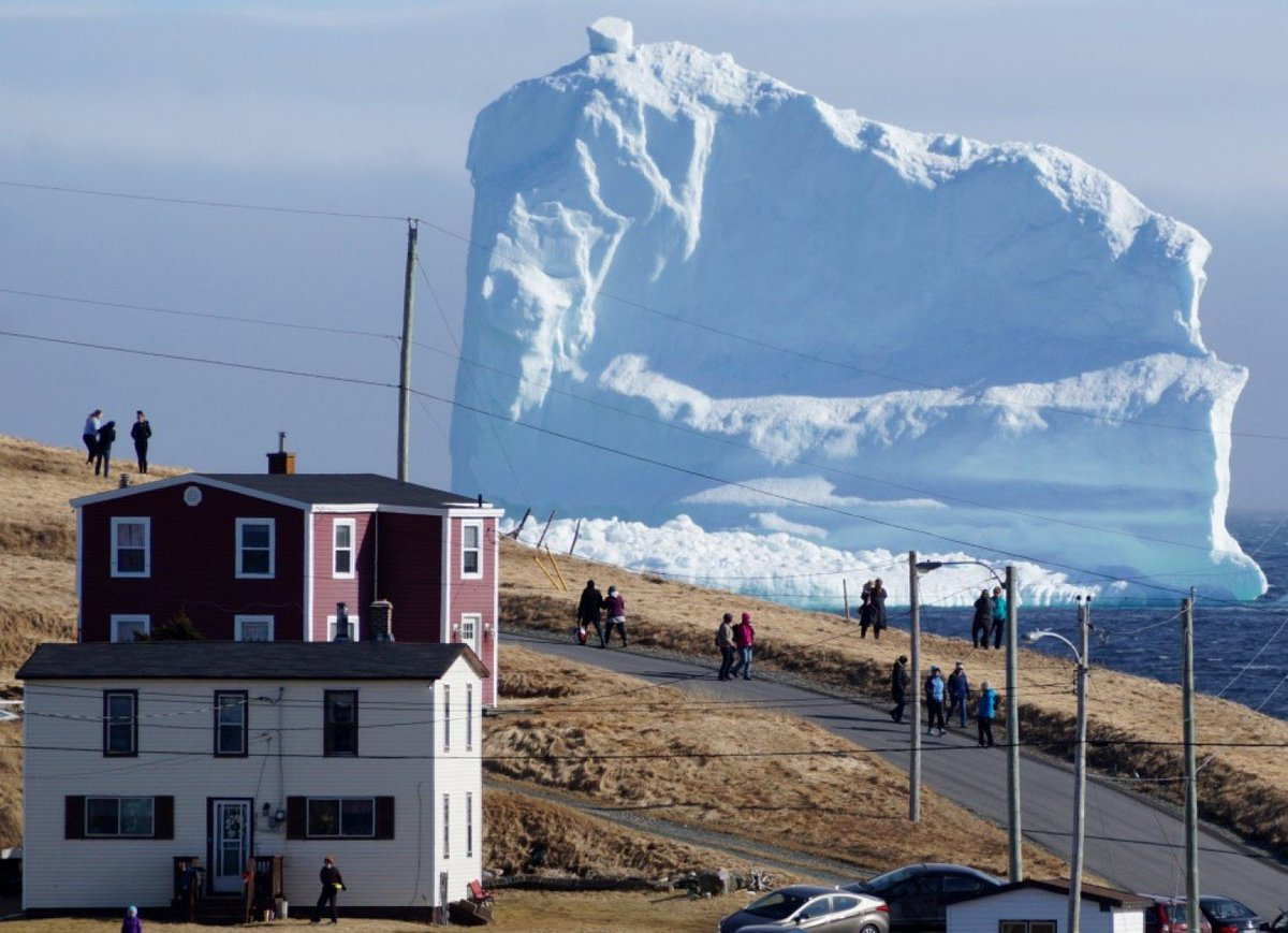 This amazing iceberg in Newfoundland comes courtesy of some terrible weather