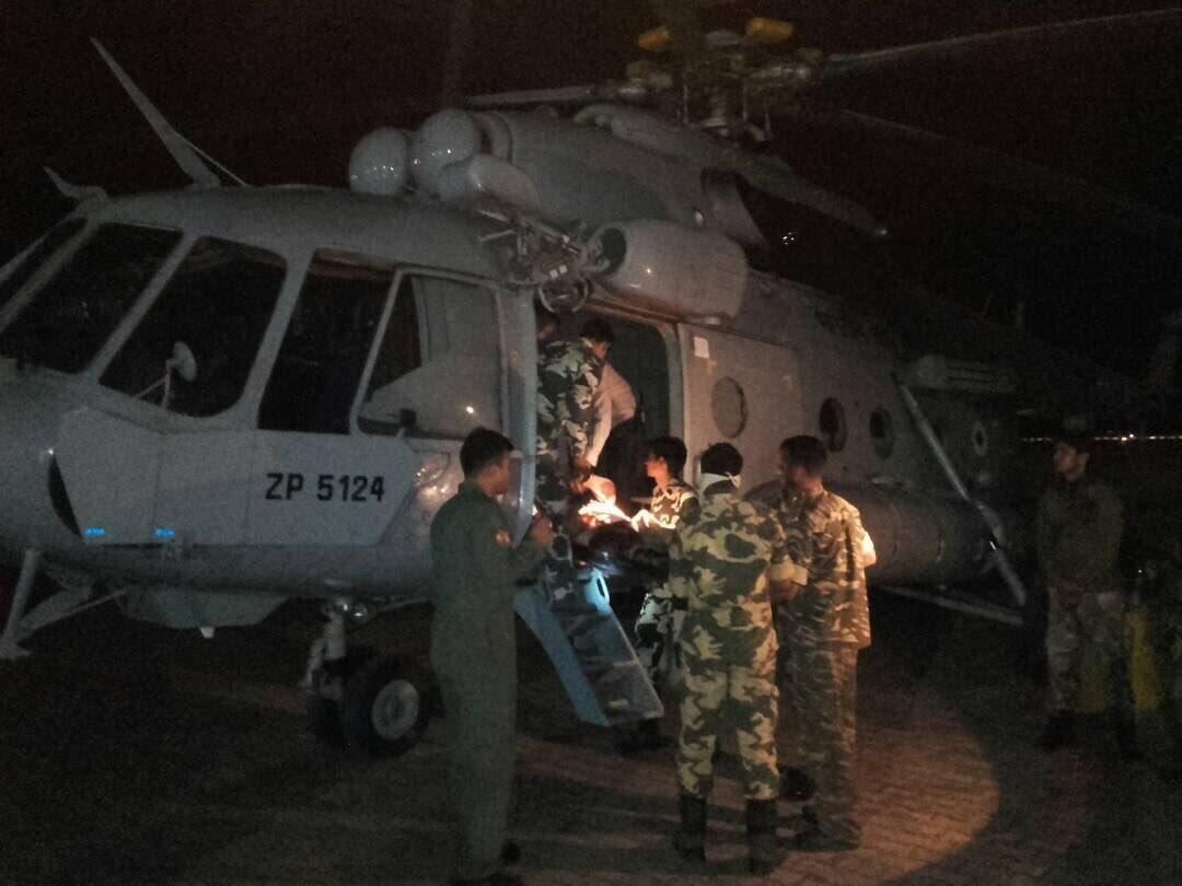 Sukma Naxal attack: CRPF personnel evacuation visuals from earlier today #Chhattisgarh