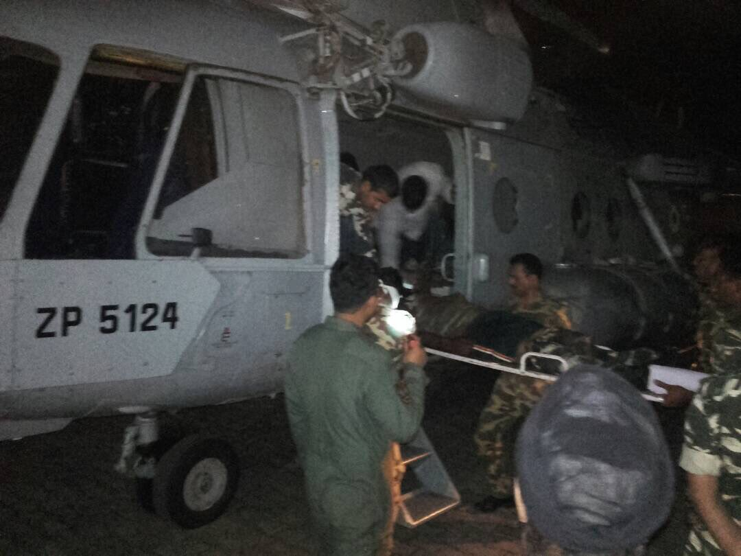 Sukma Naxal attack: IAF evacuation operation of CRPF personnel #Chhattisgarh