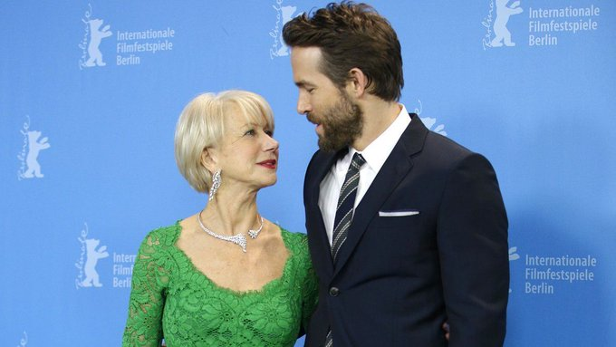 Helen Mirren just penned a mini essay about how much she loves Ryan Reynolds (hint: it's a lot) https://t.co/wcXYLivdKm