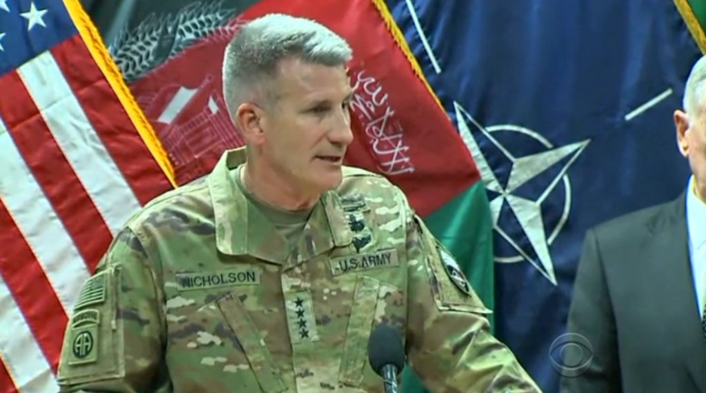 Russia supplying Taliban with weapons, top U.S. general in Afghanistan suggests: