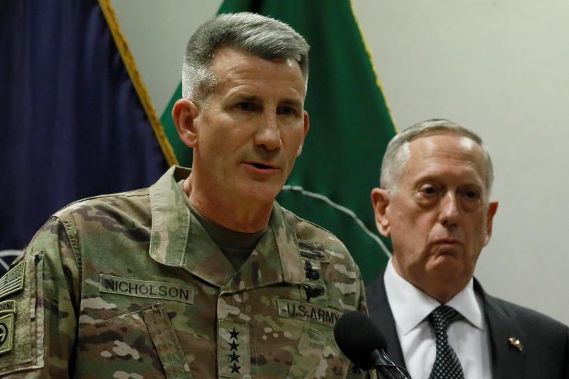 Top U.S. general in Afghanistan sees Russia sending weapons to Taliban