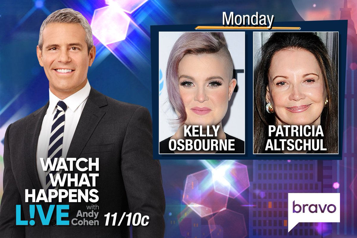 RT @BravoWWHL: TONIGHT at 11/10c it's #WWHL w/ @KellyOsbourne & #SouthernCharm's @Pataltschul! https://t.co/DZ7fbKUhDr