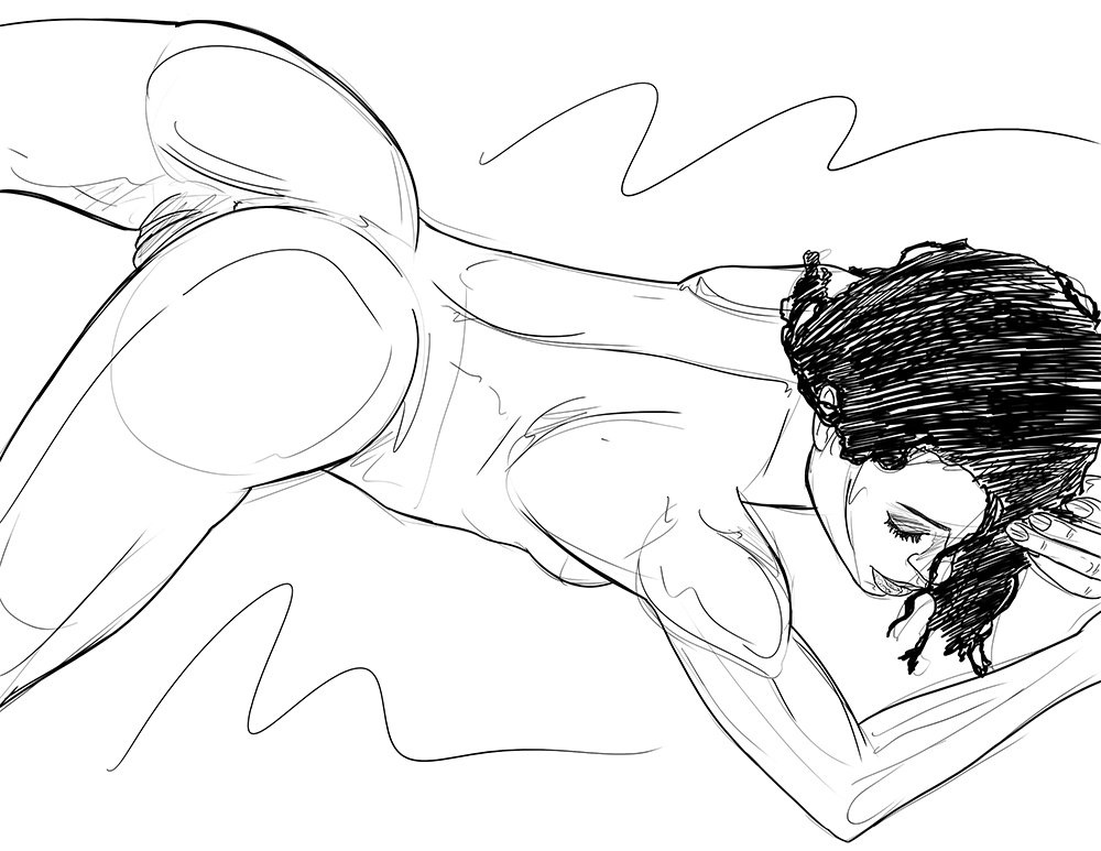 test Twitter Media - RT @MikeSwinger_Art: Sketch of the beautiful @thekiranoir showing off that stunning body https://t.co/STkGQbuy5G