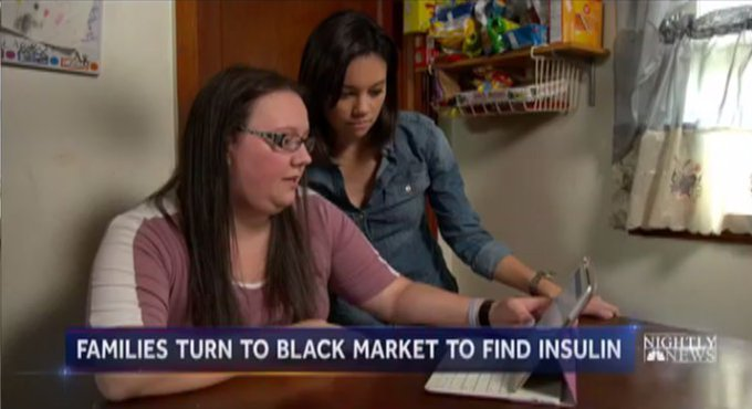 As insulin costs skyrocket, some families turn to the black market to obtain life-saving drug.  @jolingkent reports now on @NBCNightlyNews.