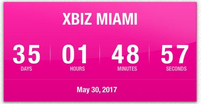 1 pic. 35 DAYS until @XBIZ MiAMi!  •》Can't wait to meet everyone!  •》EVENT: https://t.co/AXxt3tQUS1 💓🔘💗🔘💓🔘💗