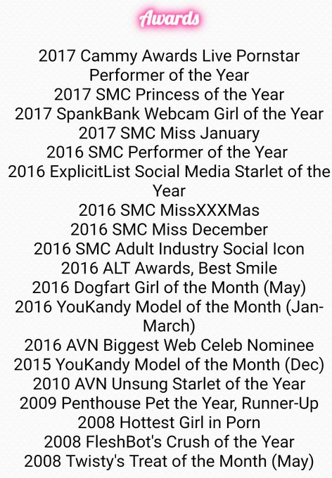 I finally got around to updating my Awards List! I think I remembered them all! 💗💗💗💗💗 https://t.co/W