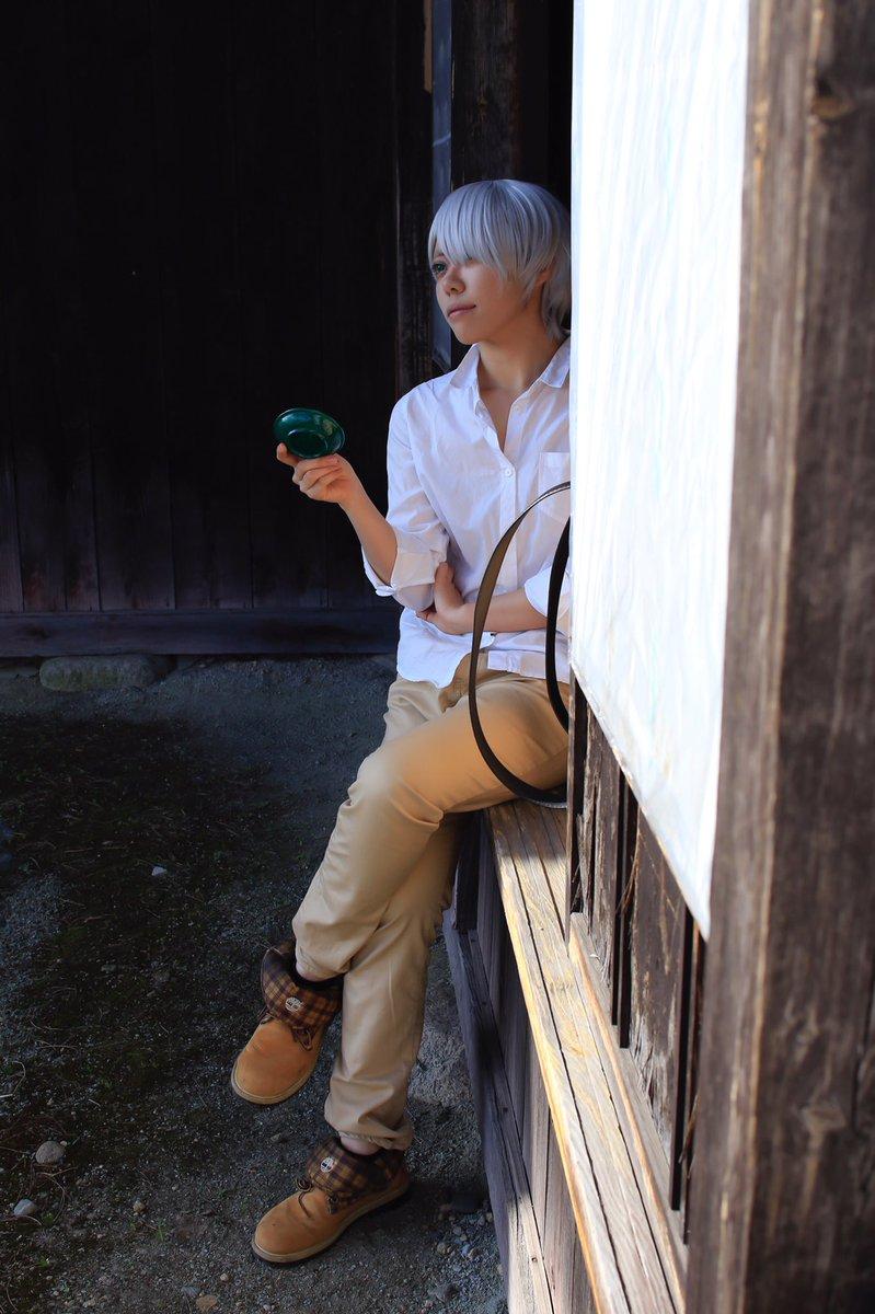 cosplay.  蟲師 ギンコ ー緑の座ー『それ以後、神の筆を持つ少年についての新しい噂は…ふっつりと途切れた』撮影