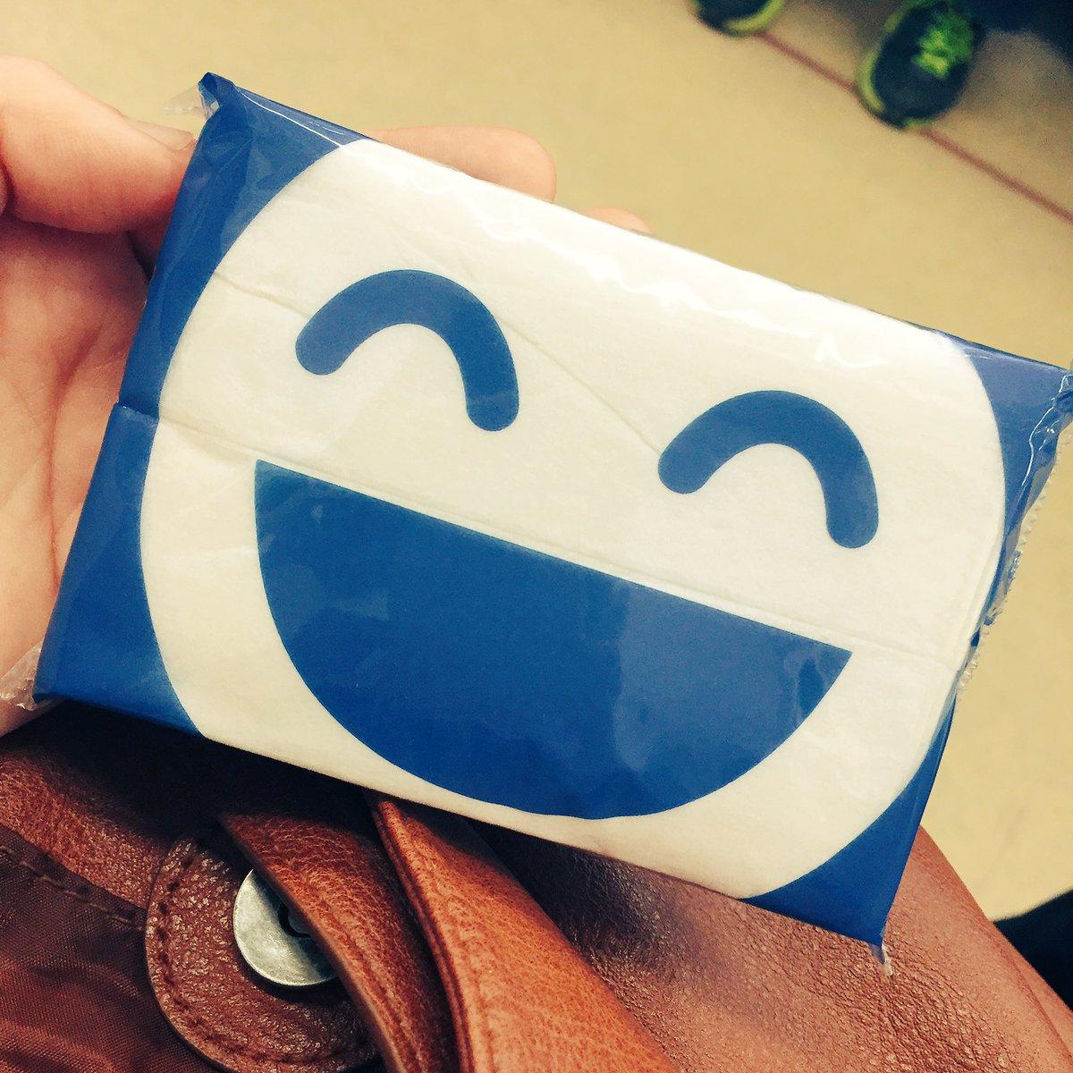 薬局で貰ったティッシュ、笑い男感ある#攻殻機動隊