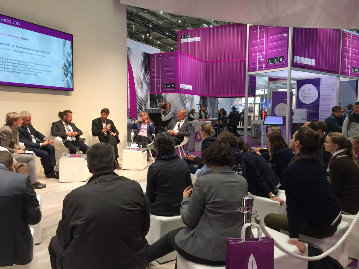 The Kiel way of cutting-edge research is presented @hannover_messe #I40 https://t.co/Gmf0d9Qs6L