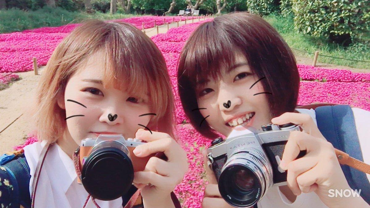 # まり姉が大阪に急遽きてくれて一緒に撮影した🖖💕#photography #鶴見緑地公園#ネモフィラ #芝桜 #ふぉと