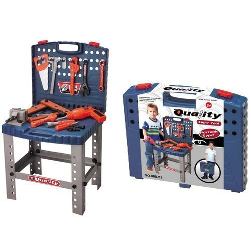 Toy Tool Set Workbench Kids Workshop Toolbench #news #toys #giveaway