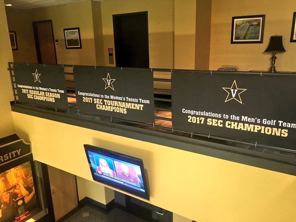 April... what a month! Come check our banners out in the McGugin Center lobby! #AnchorDown https://t.co/wtqr03kiQv