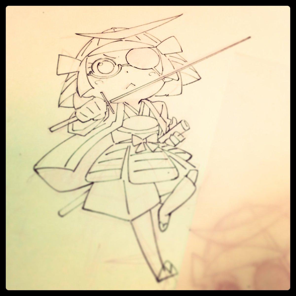 自分がアニメ用でデザインしたのが原作に逆輸入みたいになるのウレシイなぁ。前に着ぐるみ作られる前のはこんなんかなぁとラクガ