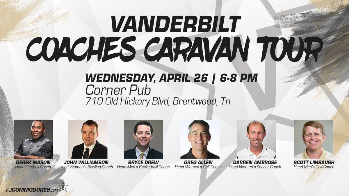 Fresh off @VANDYMENSGOLF SEC victory, Coach Limbaugh will now be attending tomorrow's caravan stop! #AnchorDown https://t.co/O9s9K5xKN8
