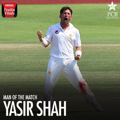 .@Shah64Y is the Man of the Match for his eight wickets #WIvPAK
