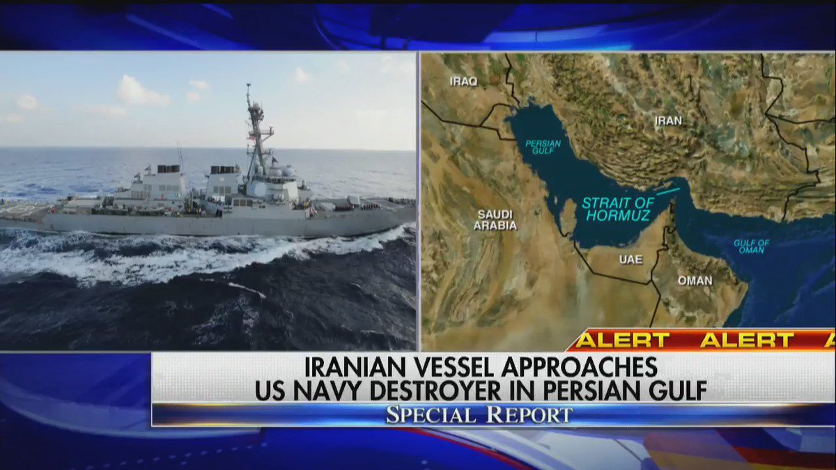JUST IN Navy destroyer has close encounter with Iranian vessel in Persian Gulf | Read more