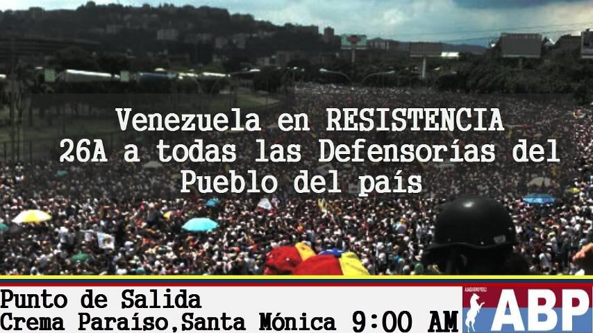 Mitzy. Venezuela sigue en pie de lucha por la libertad.