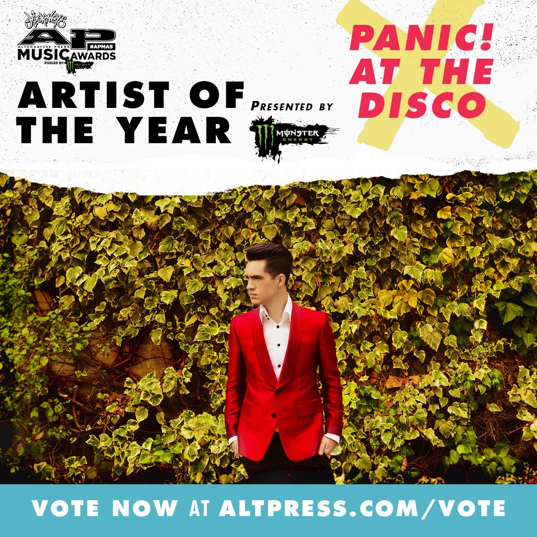 Awwww yeah, nominated for Artist Of The Year at the @AltPress #APMAS! Vote your heart out https://t.co/do3vNm3O7H https://t.co/JYPEJlhPh1