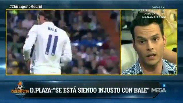 """¡OJO! """"Se está siendo MUY INJUSTO con Bale"""", @plazacasals HABLA CLARO en #ChiringuitoMadrid ¡TODOS A MEGA!"""