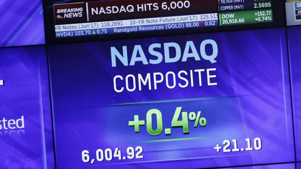Seventeen years after 5,000, Nasdaq tops 6,000 From @GlobeInvestor