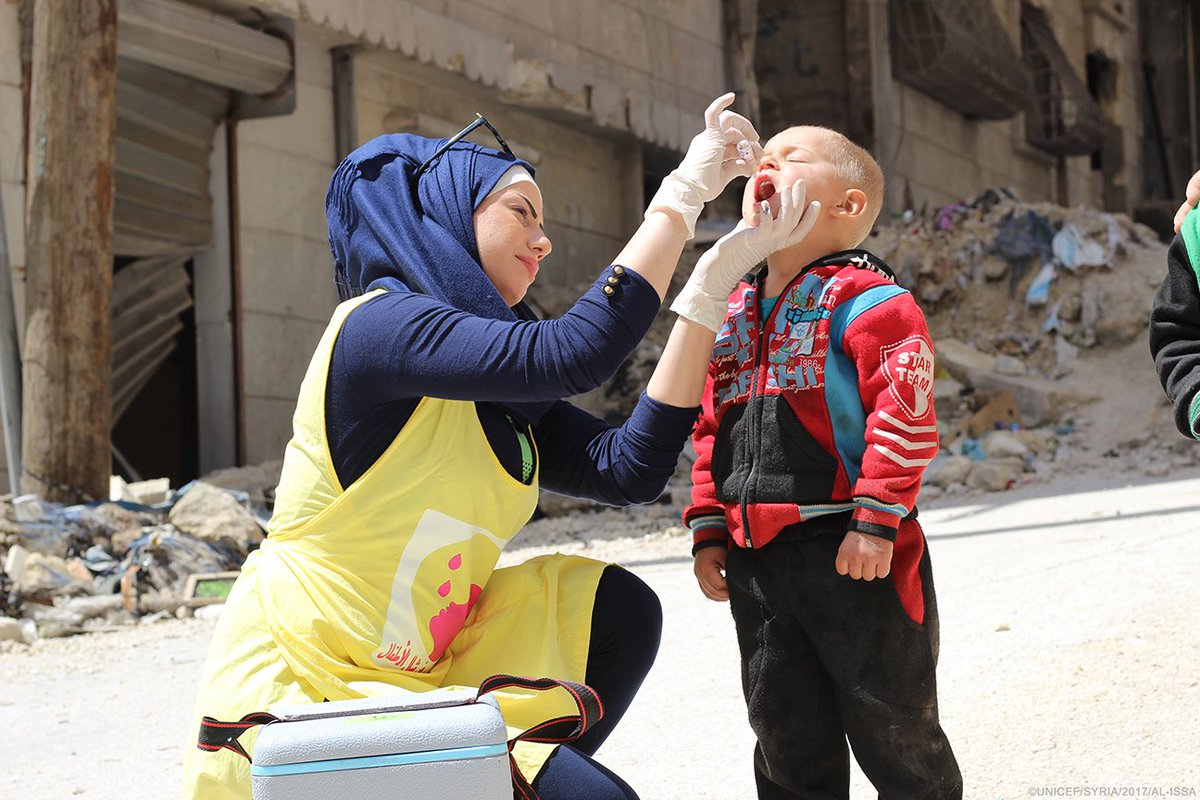 #Syria With partners we've launched an immunization campaign to help vaccinate children under five. #VaccinesWork