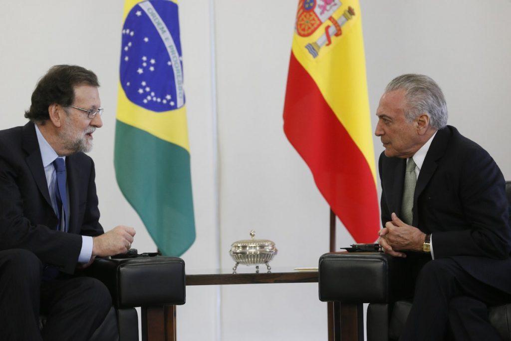 Brazil's President Temer Meets with Spain's President Rajoy