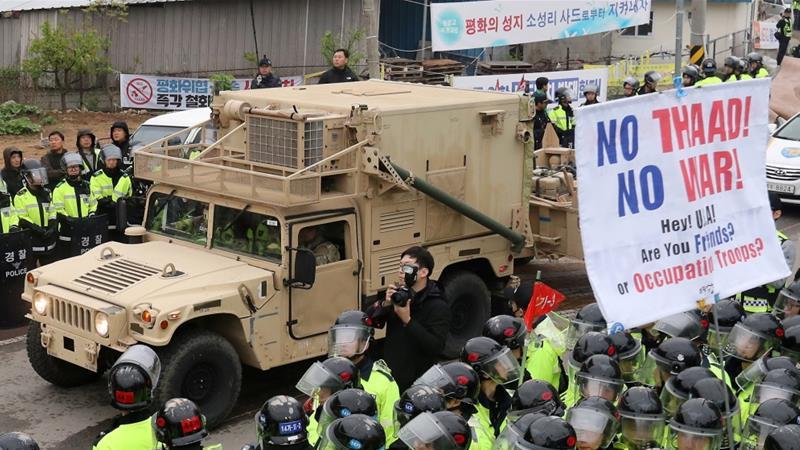 South Korea deploys parts of US missile defence system to deter North Korea