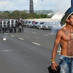 Brazil police use tear gas in clash with spear-toting indigenous protesters outside Congress