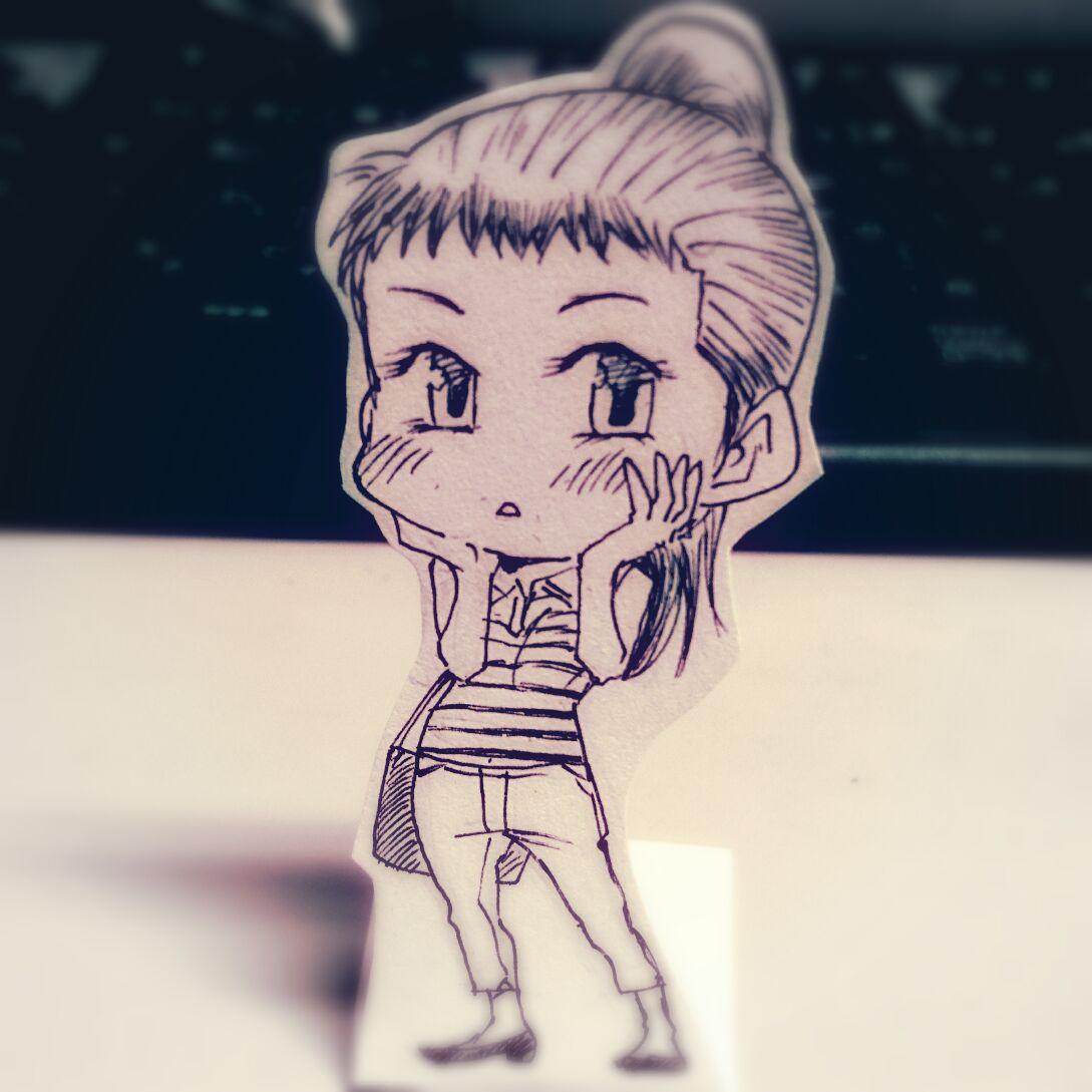 リクエストにあったので、メガネ萌え女子の大和田さん。#ダイヤのA