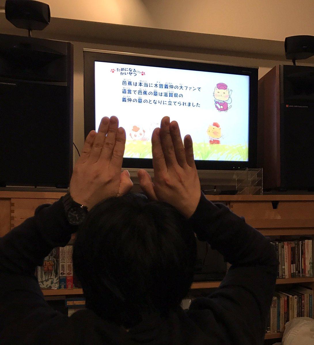 不定期日記#ねこねこ日本史 今日はリアタイしました〜松尾芭蕉、可愛いかったっす。