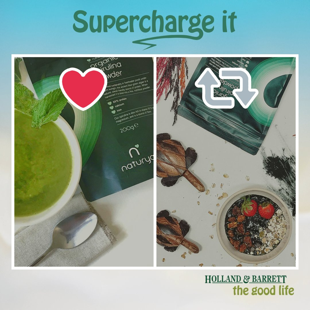 In a super-green smoothie or down in one? RT or ❤️ to #win one of five spirulina packs. #SuperchargeIt https://t.co/OGxwlVz2Cq