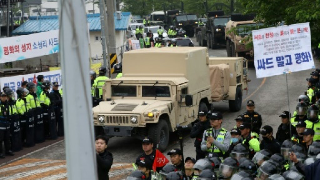 US THAAD missile defence equipment enters South Korea site: Yonhap