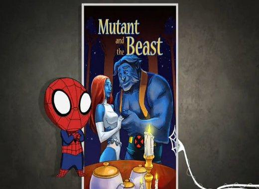 そう言えば『アルティメットスパイダーマン』で『美女と野獣』のこんなパロディもあったな