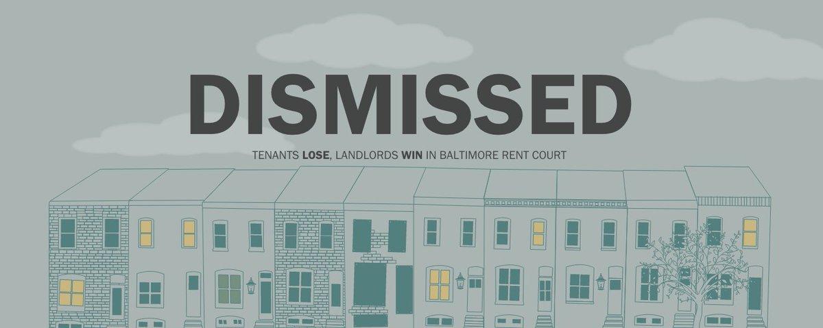 Dismissed: Tenants lose, landlords win in Baltimore rent court
