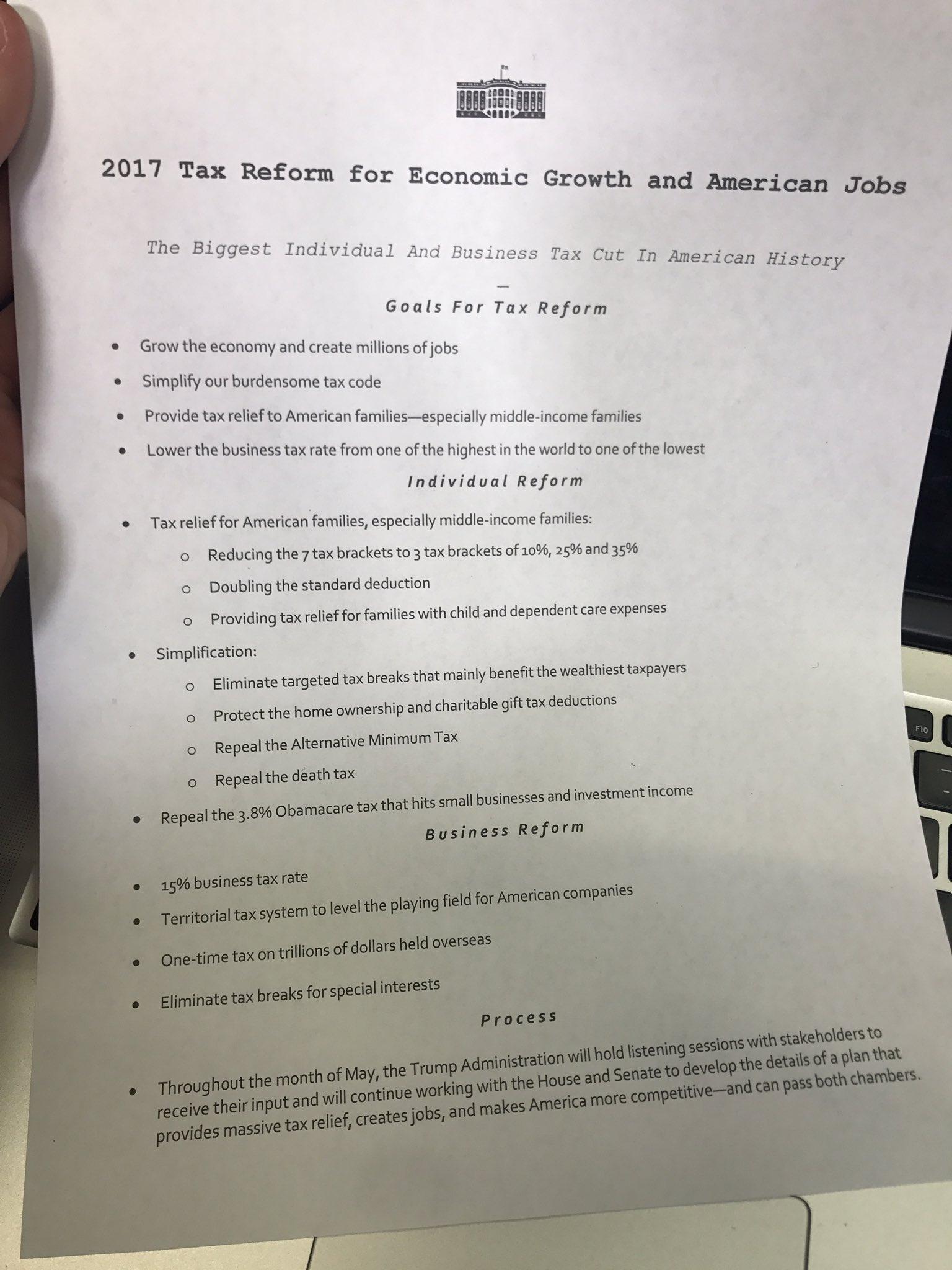 The @WhiteHouse tax plan: https://t.co/l7xag1dE4Q