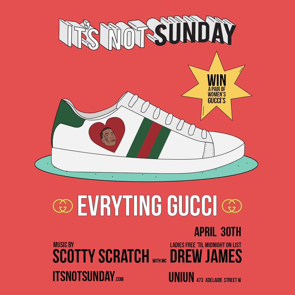 test Twitter Media - Evryting Gucci going down Sunday + a pair of women's shoes up for grabs. Head to our FB page for details. GL - https://t.co/r3DI1dqRYP 👟✨ https://t.co/krOpQE10au
