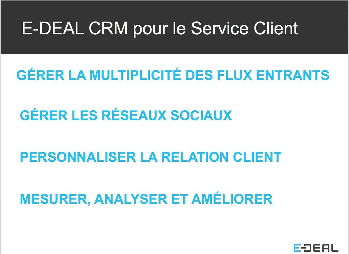 test Twitter Media - ☑️E-DEAL pour #ServiceClient : outil #CRM personnalisable pour suivre tous les canaux de communication et le ROI #WebEDEAL #RelationClient https://t.co/NWLFqLlikL