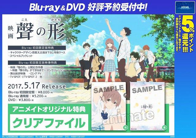 【BD&DVD予約情報】 映画『聲の形』BD&DVDが5月17日に発売!ご予約受付中やお♪BD初回限定版