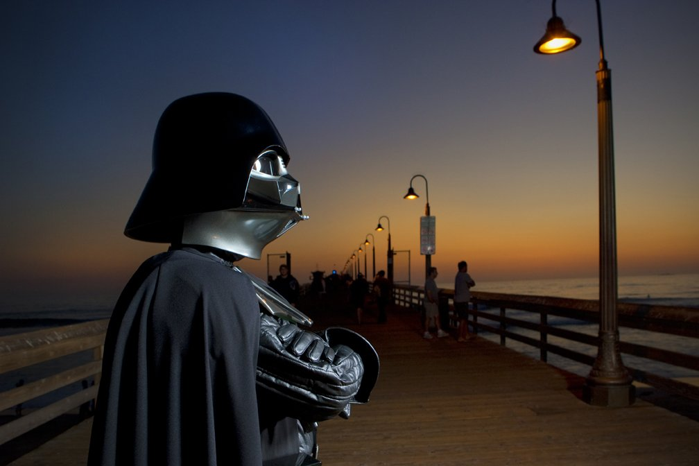 Even Darth Vader needs a beach day . . . er — night #MayThe4thBeWithYou