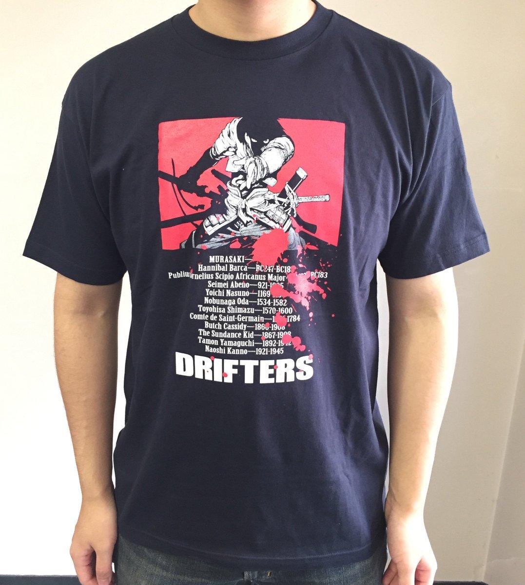【Character 1 2017 グッズ情報】◆『ドリフターズ』漂流者Tシャツ(L) ¥3500◆平野耕太先生のイラス