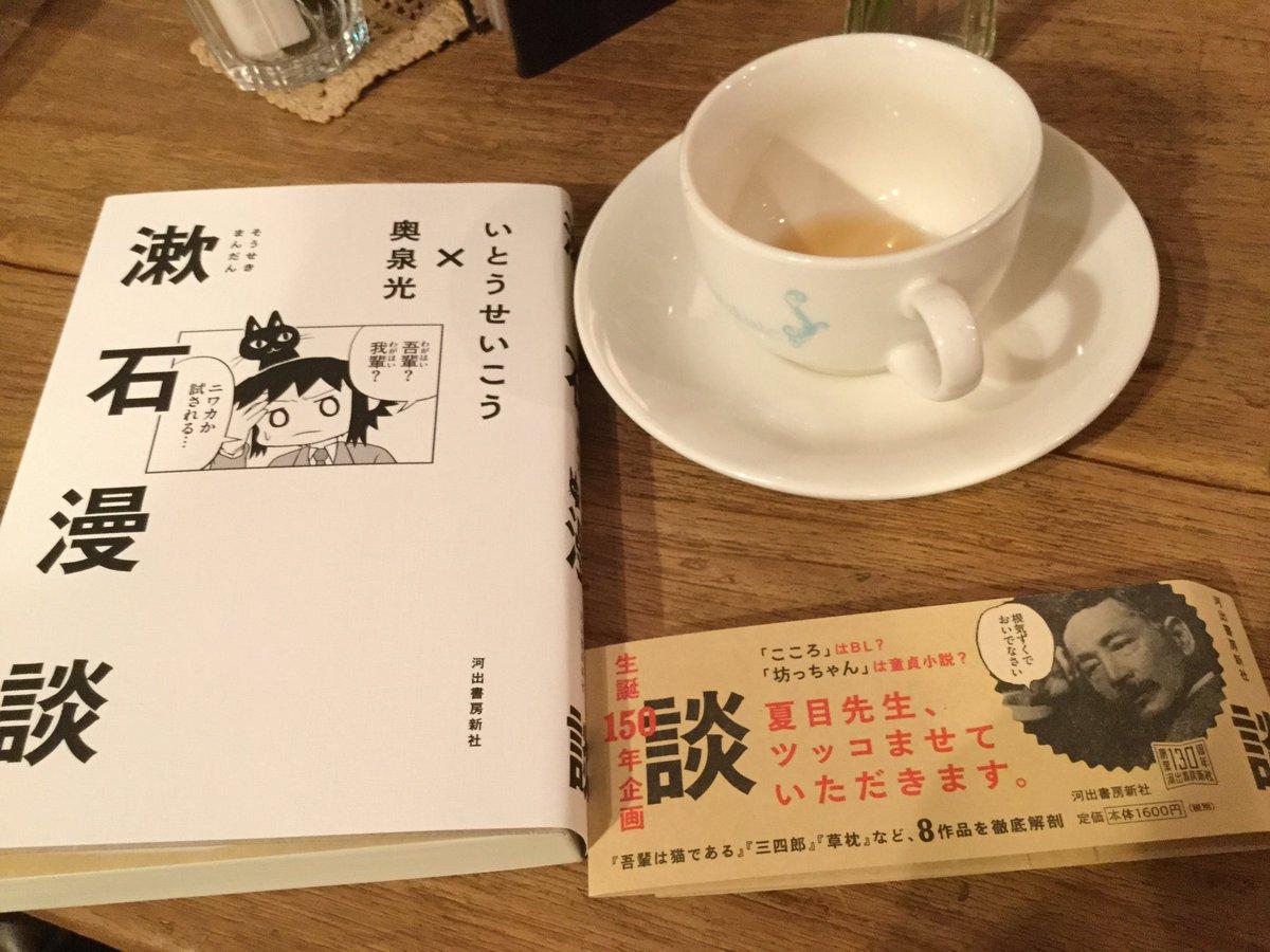 無事、いとうせいこうさんと奥泉光さんの文芸漫談から漱石回のみ集めた『漱石漫談』(河出書房新社)購入。表紙でもしやと思った