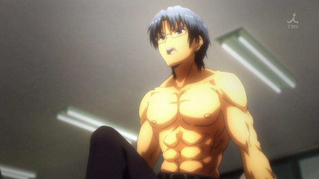 @2eKq1I0_anime 高松「先生!実は私、着痩せするタイプなんです。…どうですか?」先生「わかったから座りなさい