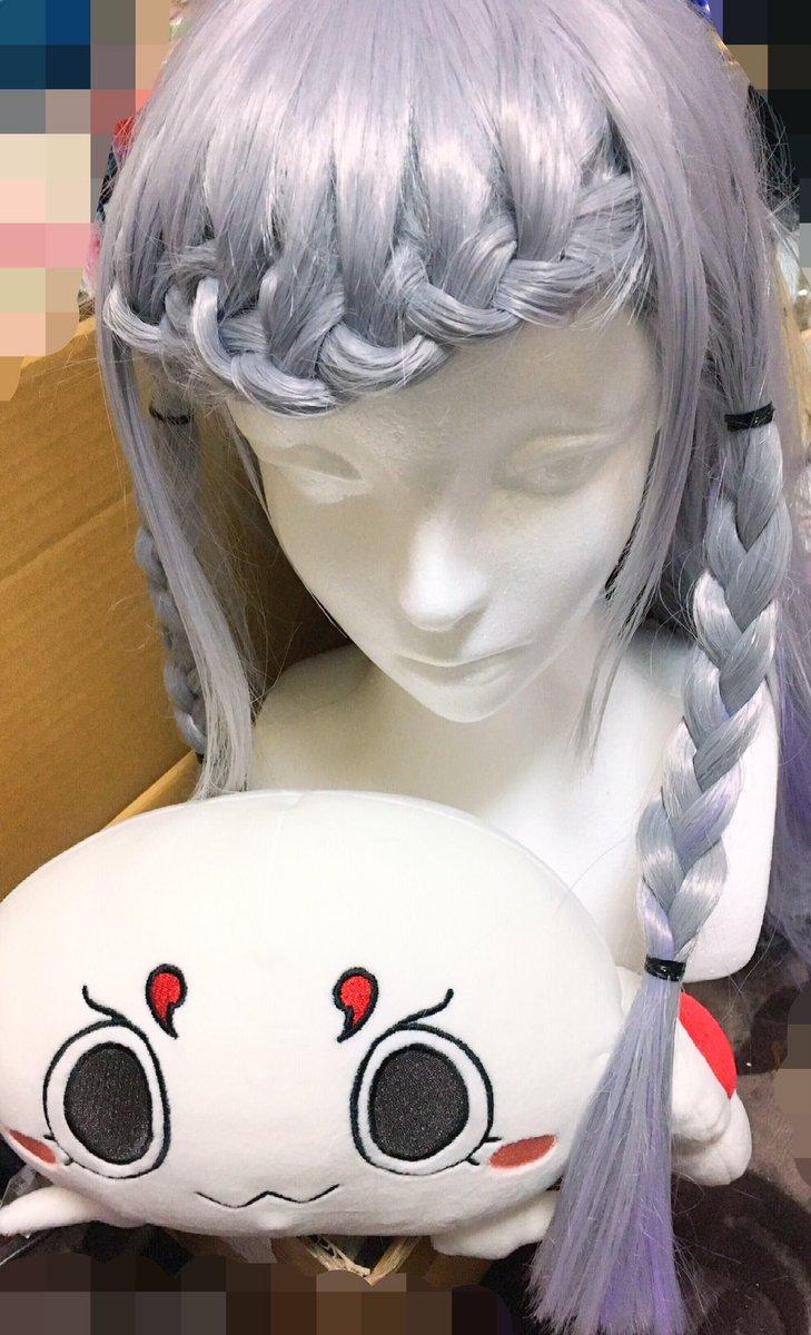 ユナの髪型完成♥♥毛束縫いまくってグラデーション作ったよ!♥アインちゃんも一緒!!!本番(5/6)が楽しみだー\( 'ω